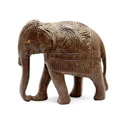 elephant Indian wooden figurine