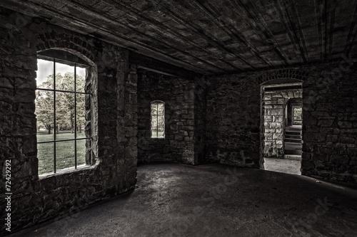 Foto op Canvas Kasteel Inside Squire's Castle