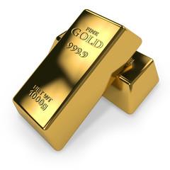 Zwei Goldbarren