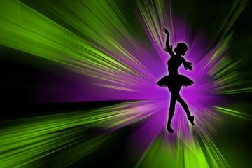 Девушка танцующая балет