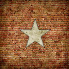 star on brick
