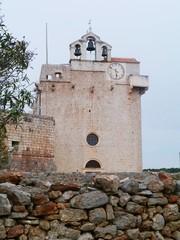 The fortress church in Vrboska on the island Hvar