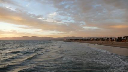 Venice Beach Dusk Surf Time Lapse