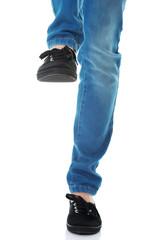 Woman's legs in jeans