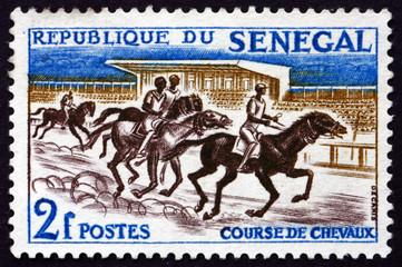 Postage stamp Senegal 1961 Horse Race