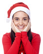 Cute Santa girl isolated on a white background