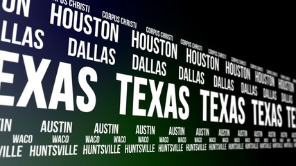 Texas State and Major Cities Scrolling Banner