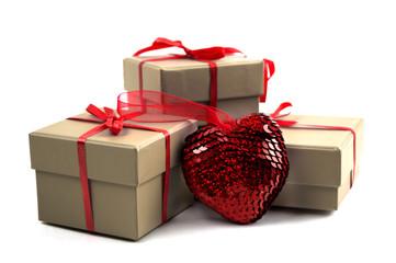 heart near a box