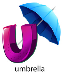 A letter U for umbrella