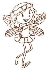 A simple sketch of a cute fairy