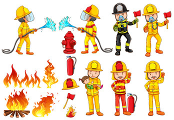 A group of firemen