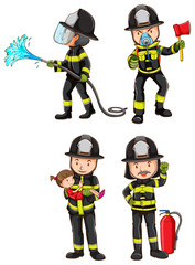 A simple sketch of firemen