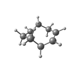 Cyclooctene molecule isolated on white