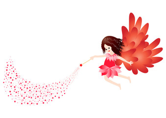 Little fairy with stars