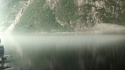 Viking Longboat On A Pier In Norway, Epic FullHD VisualFX shot