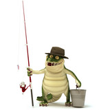 Croc ready for fishing poster