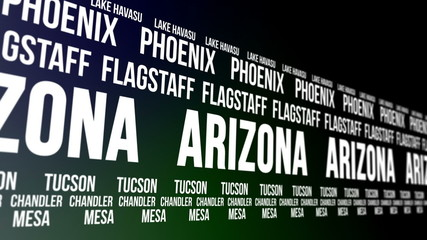 Arizona State and Major Cities Scrolling Banner
