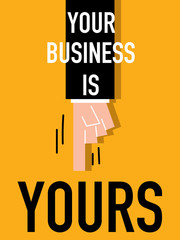 Word YOUR BUSINESS vector illustration