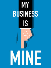 Word MY BUSINESS vector illustration