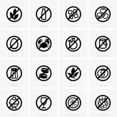 Allergen free icons