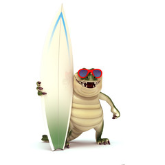 Crocodile ready to surf