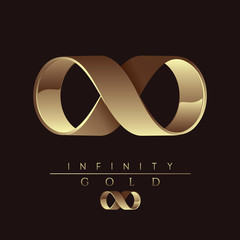 gold infinity sign