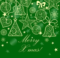 Seamless christmas decoration