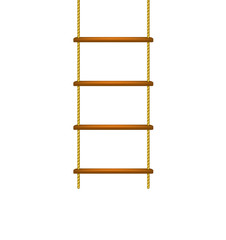 Wooden rope ladder