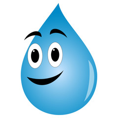 Cute cartoon water drop