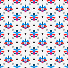 Colorful damask pattern