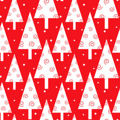 Red Christmas trees pattern