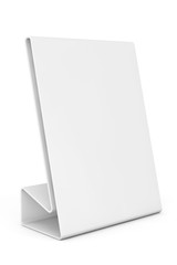 White Blank table plate card