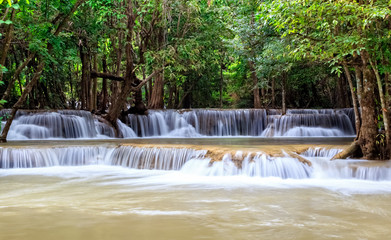 Rainforest Waterfall in Thailand