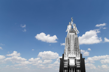 monument Rabochiy i Kolkhoznitsa, Moscow, Russia