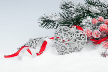 xmas decoration with copy space