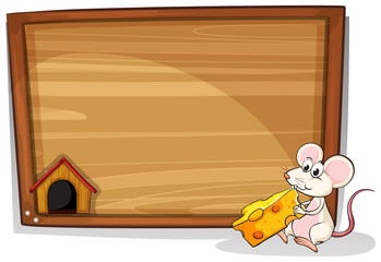 Mouse and cheese © GraphicsRF