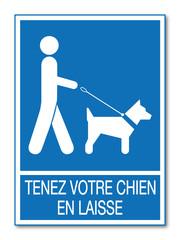 Logo chien en laisse.