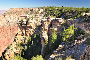 View to Grand Canyon national park. Arizona. USA.
