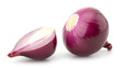 canvas print picture - Red onion and isolated on white background