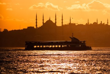 Sunset with view in Istanbul