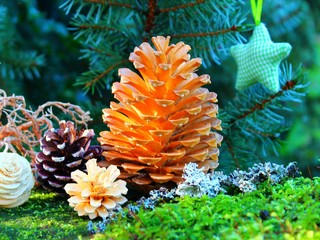 weihnachtsdeko aus naturmaterial