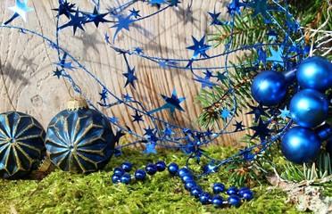 weihnachtsdeki in blau
