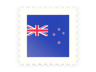 Postage stamp icon of new zealand
