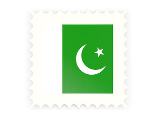 Postage stamp icon of pakistan