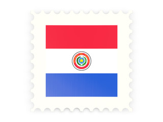 Postage stamp icon of paraguay