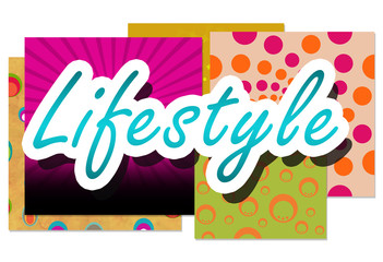 Lifestyle Over Colorful Backgrounds