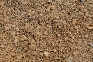 Песок с крупными камнями