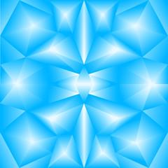abstract triangular gradient blue background