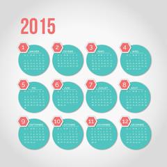Calendrier 2015 français mois jour date agenda