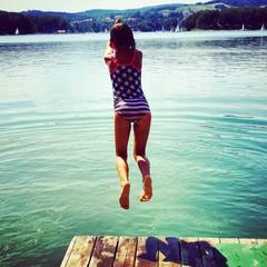 Summer girl holiday wather jump